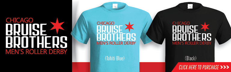 Chicago Bruise Brothers League Logo T-Shirt